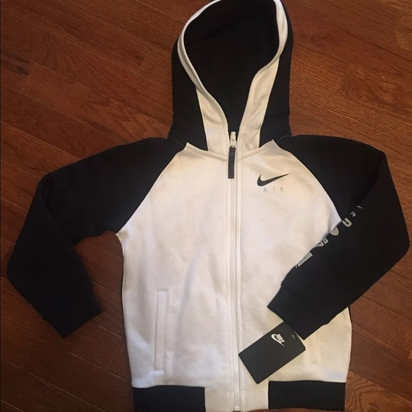 Zip Youth Hybrid Nike Air Black Nwt Full Hoodie Boy's hdxtsrBQC